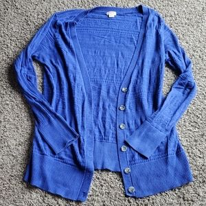 3/$12 Mossimo blue cardigan sweater with buttons